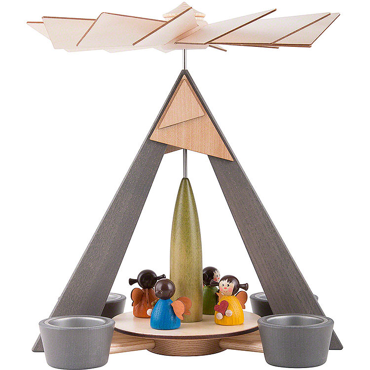 1 - Tier Pyramid  -  Angels Colored  -  29cm / 11.2 inch