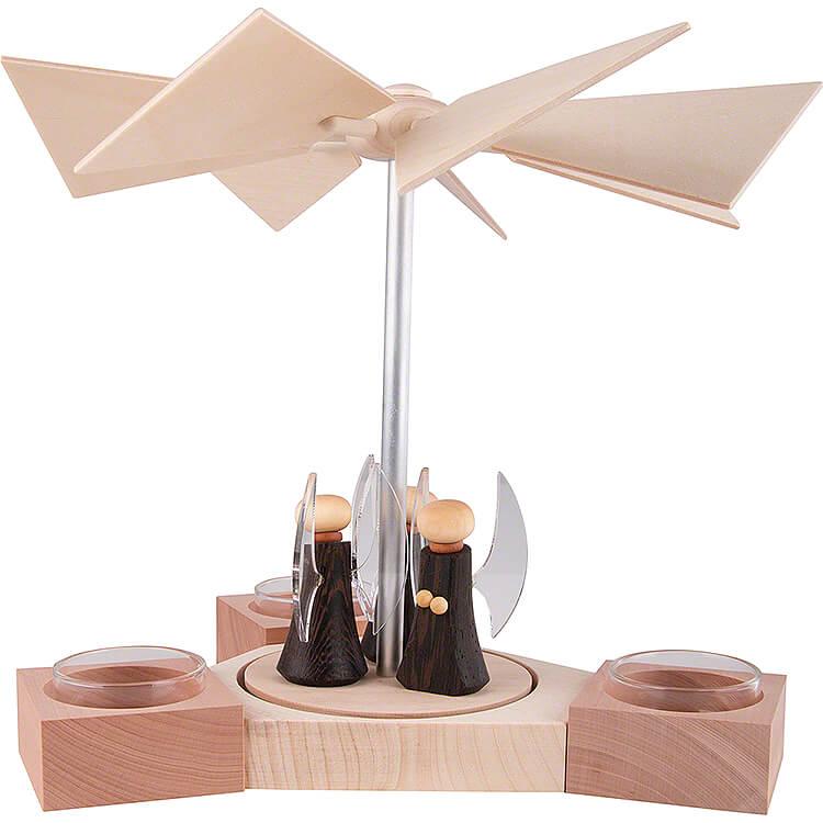 1 - Tier Pyramid Hexagonum Angels  -  20cm / 7.9 inch