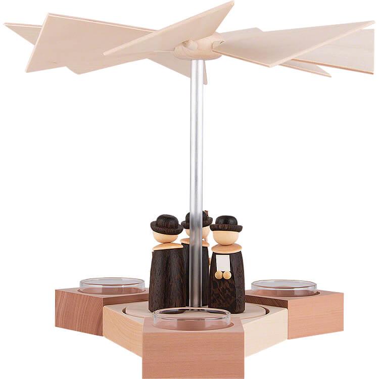 1 - Tier Pyramid Hexagonum Carolers  -  20cm / 7.9 inch