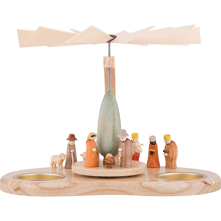 1 - Tier Pyramid  -  Miniature Nativity  -  17cm / 6.7 inch
