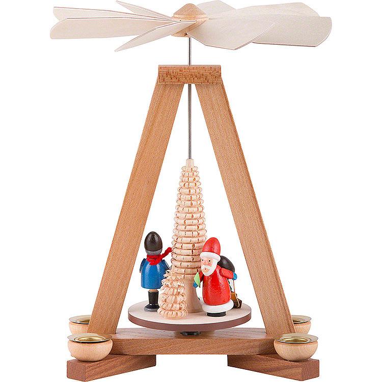 1 - stöckige Pyramide Weihnachtsmann und Striezelkinder  -  23cm