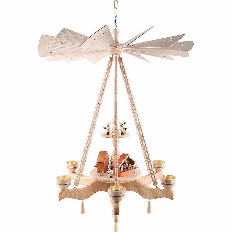 2 - stöckige Deckenpyramide Weihnachtsmarkt  -  55x85cm