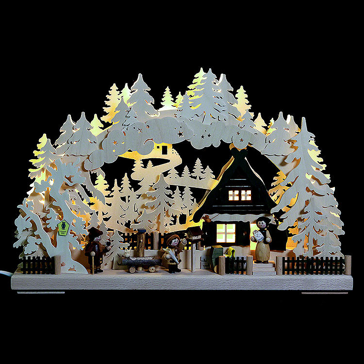 3D - Schwibbogen Familienglück  -  43x30x7cm
