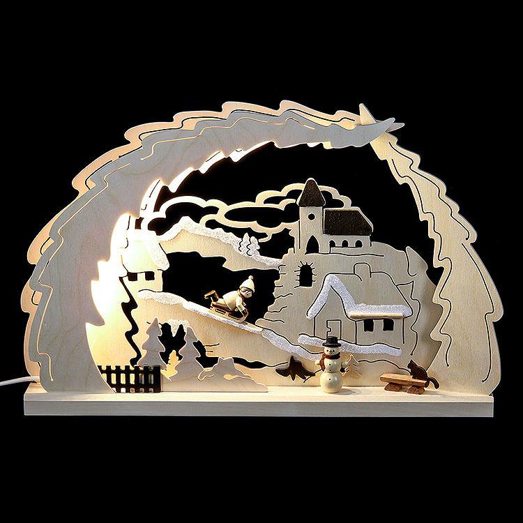 3D - Schwibbogen Rodelberg  -  41x27x4,5cm