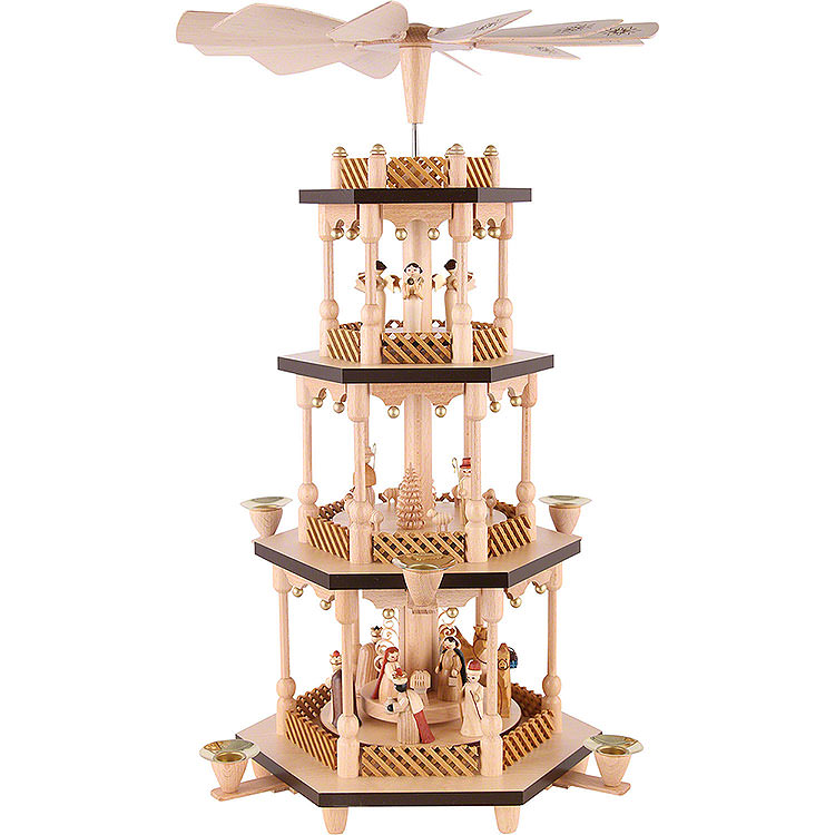 4 - stöckige Pyramide Christi Geburt  -  54cm