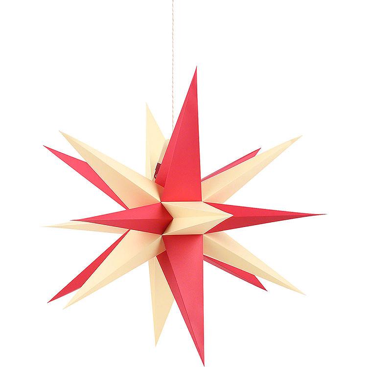 Annaberger Faltstern für Innen mit rot - gelben Spitzen  -  58cm
