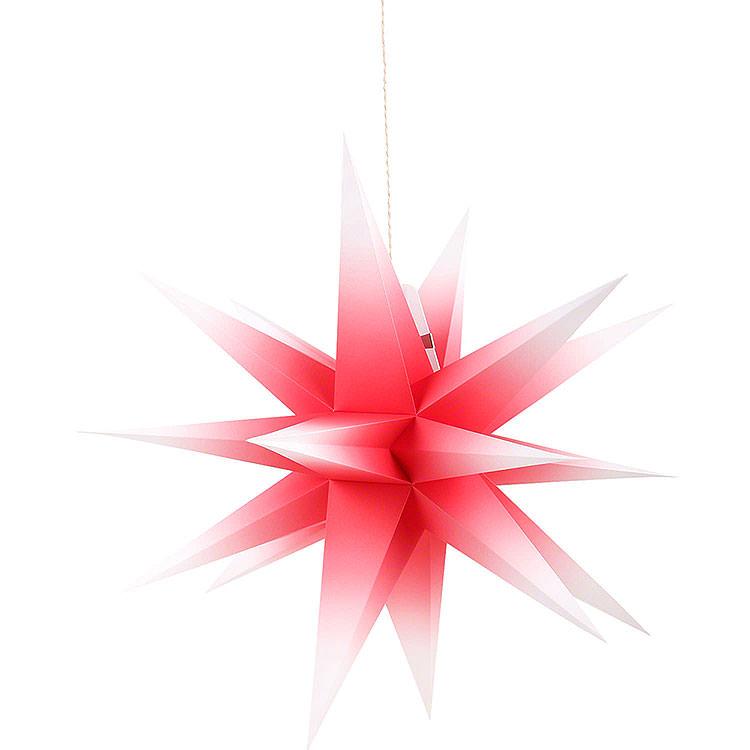 Annaberger Faltstern für Innen rot - weiß  -  58cm