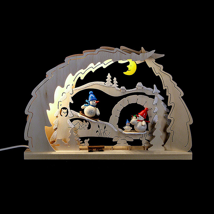 Candle Arch  -  Snowman Family  -  41x27x4,5cm / 16.1x10.6x1.7 inch