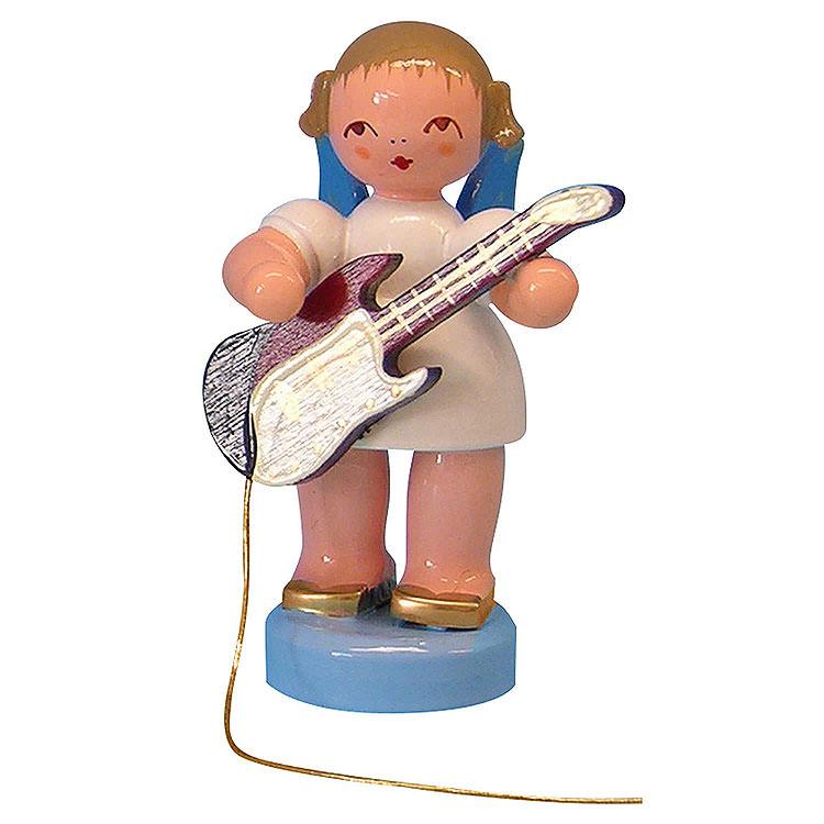 Engel mit E - Gitarre  -  Blaue Flügel  -  stehend  -  6cm