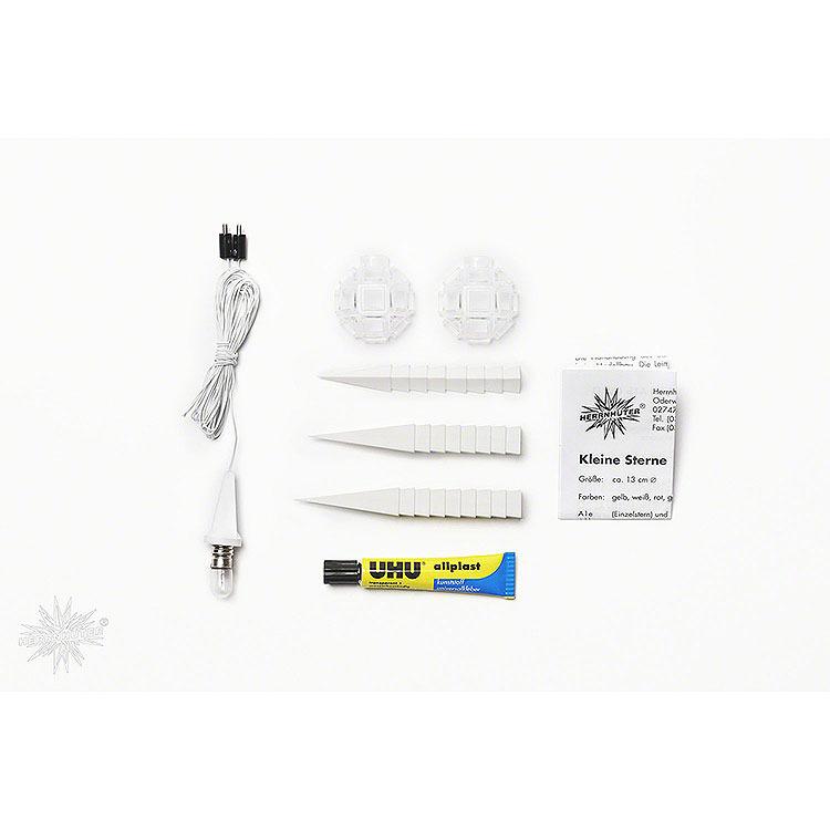 Herrnhuter Bastelstern A1b weiß Kunststoff  -  13cm
