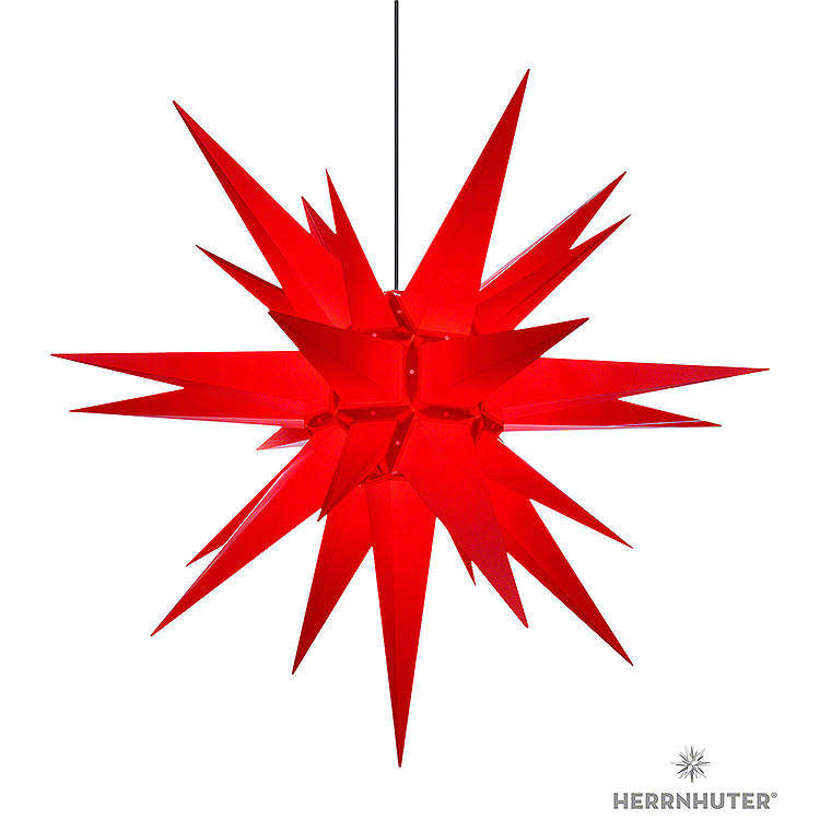 Herrnhuter Stern A13 rot Kunststoff  -  130cm