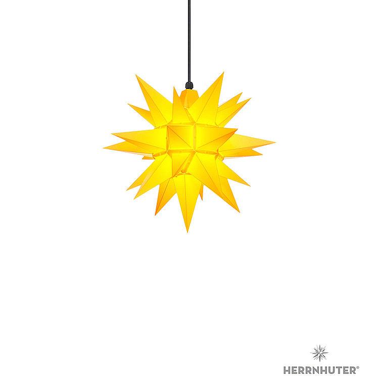 Herrnhuter Stern A4 gelb Kunststoff  -  40cm