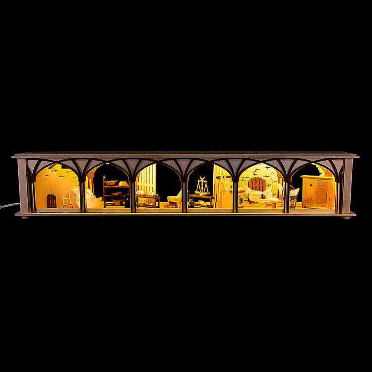 Illuminated Stand for Candle Arches Cellar  -  80x15cm / 31.5x5.9 inch
