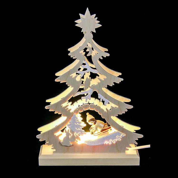 Lichterspitze Mini - Baum Rodler  -  LED  -  23,5x15,5x4,5cm