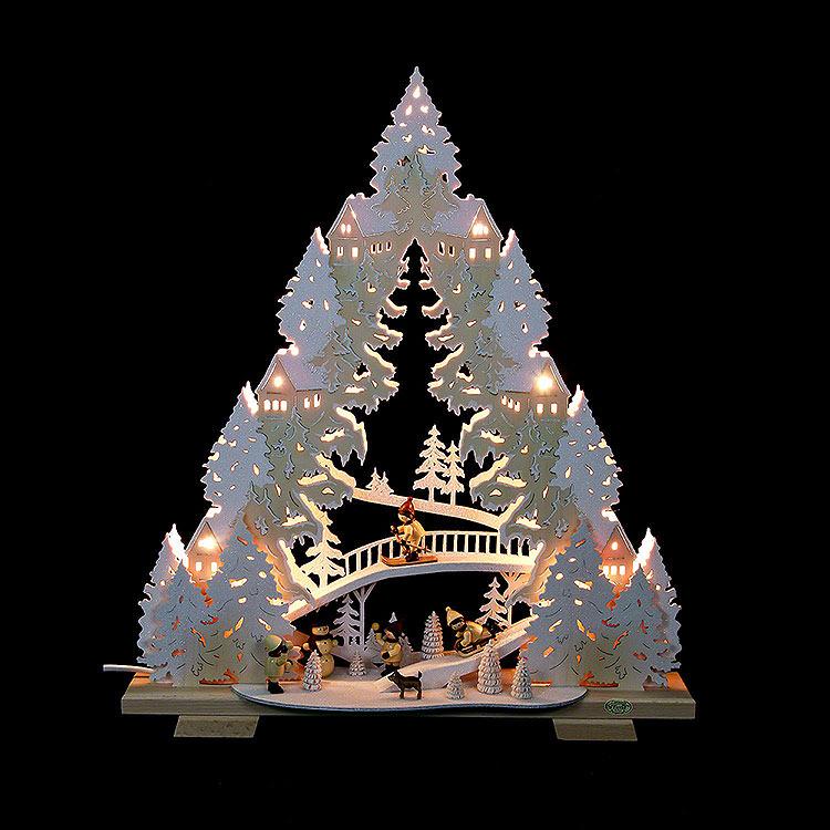 Lichterspitze Rodeln auf dem Ziegenberg  -  44x50x11cm