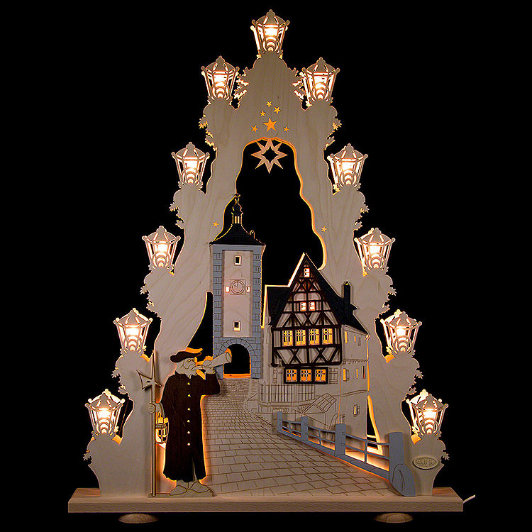 "Lichterspitze ""Rothenburg ob der Tauber""  -  LED  -  52x67x6cm"