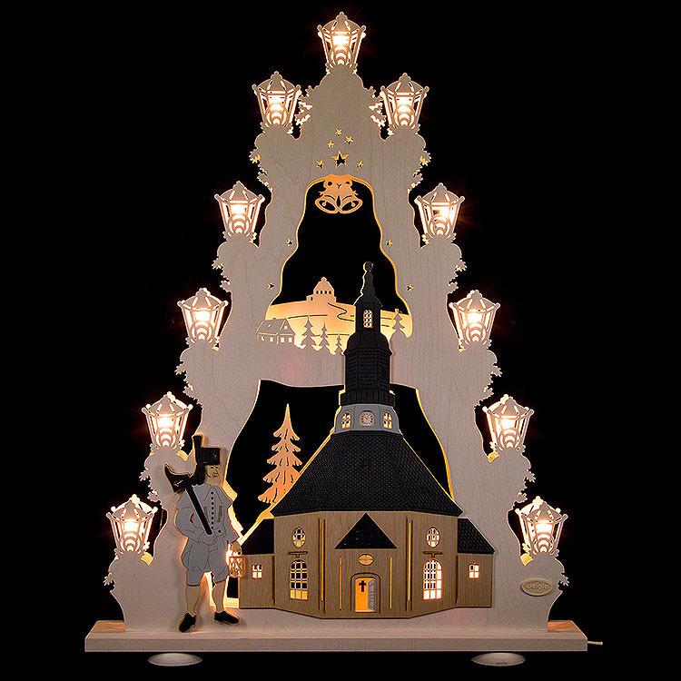"""Lichterspitze """"Seiffener Kirche""""  -  52x67x6cm"""