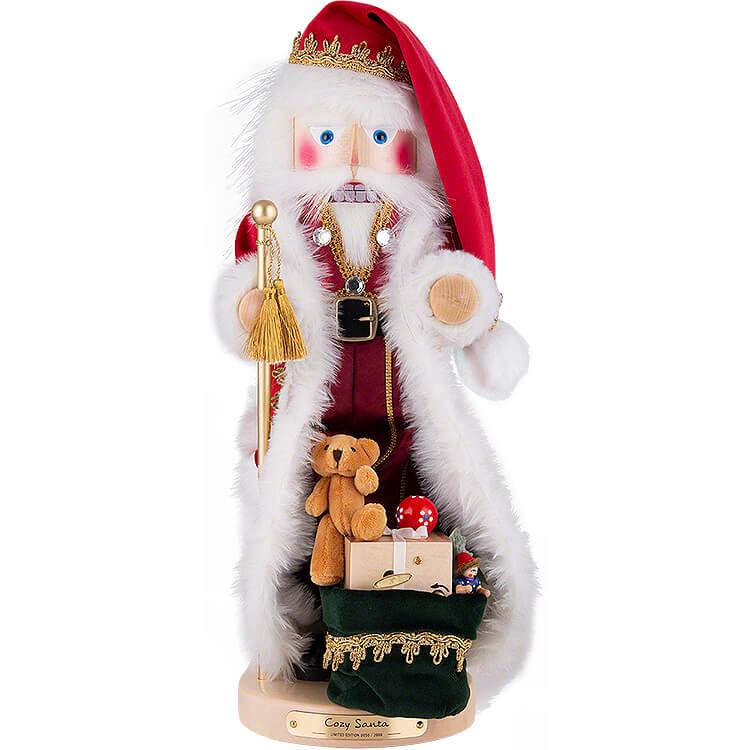 Nussknacker Gemütlicher Weihnachtsmann mit Musik  -  49cm