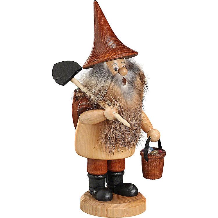 Räuchermännchen Bergwichtel mit Schaufel  -  18cm