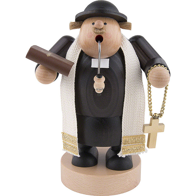 Räuchermännchen Pfarrer mit Bibel  -  19cm