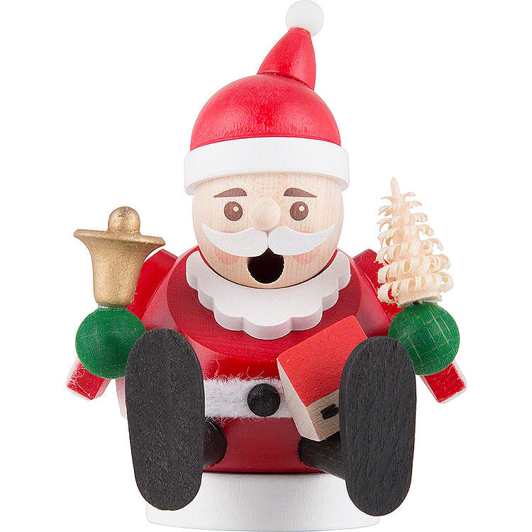 Räuchermännchen mini sitzend  -  Weihnachtsmann  -  9cm