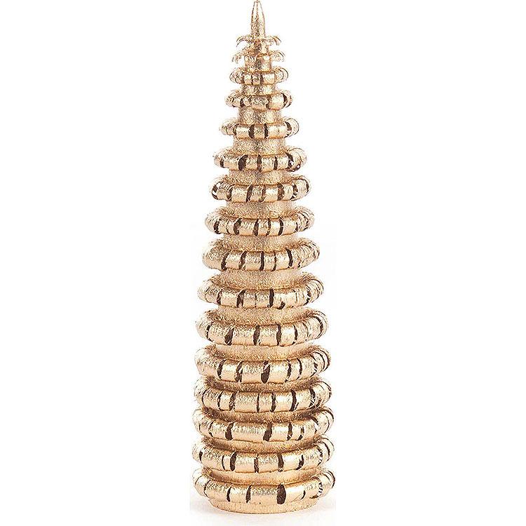 Ringelbäumchen ohne Stamm vergoldet  -  8cm
