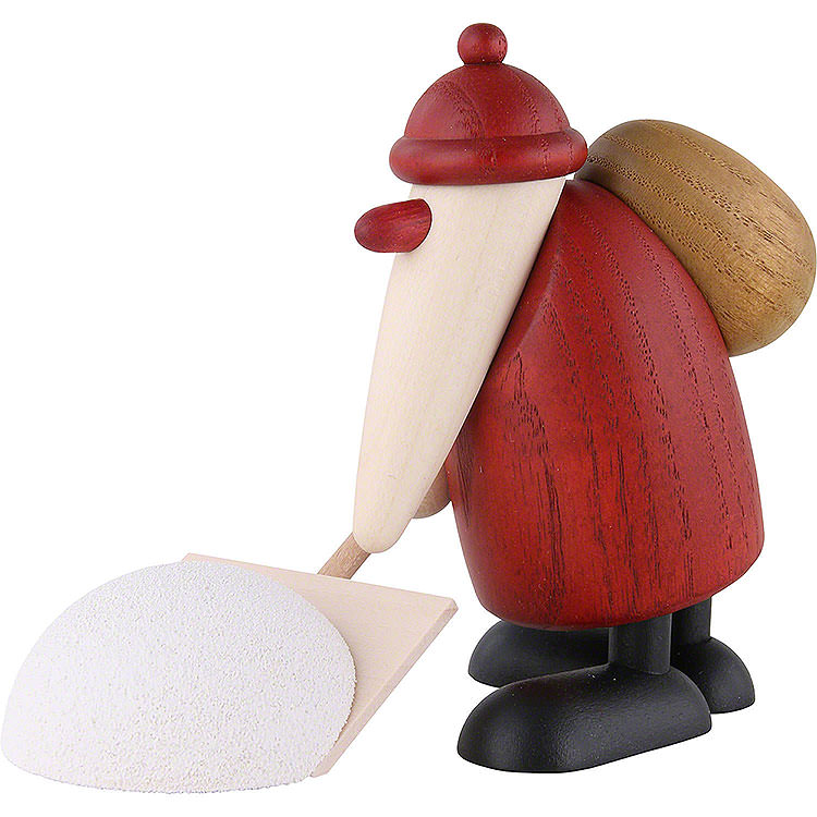 Santa Claus with Snow Shovel  -  9cm / 3.5 inch