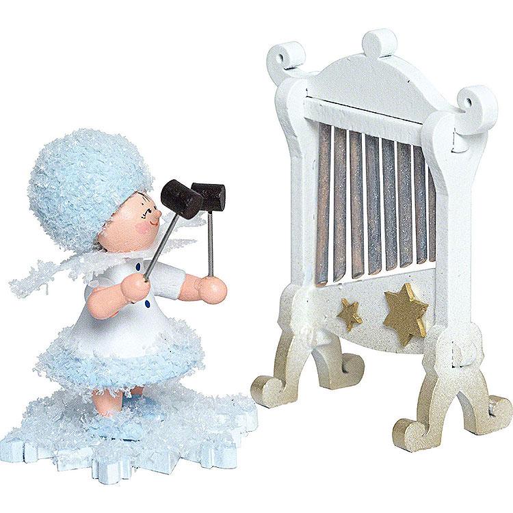 Schneeflöckchen mit Glockenspiel  -  7cm