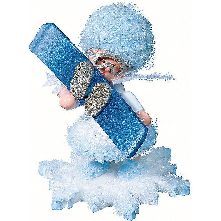 Schneeflöckchen mit Snowboard  -  5cm