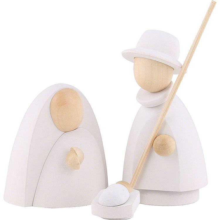 The Holy Family White/Natural  -  Large  -  9,5cm / 3.7 inch