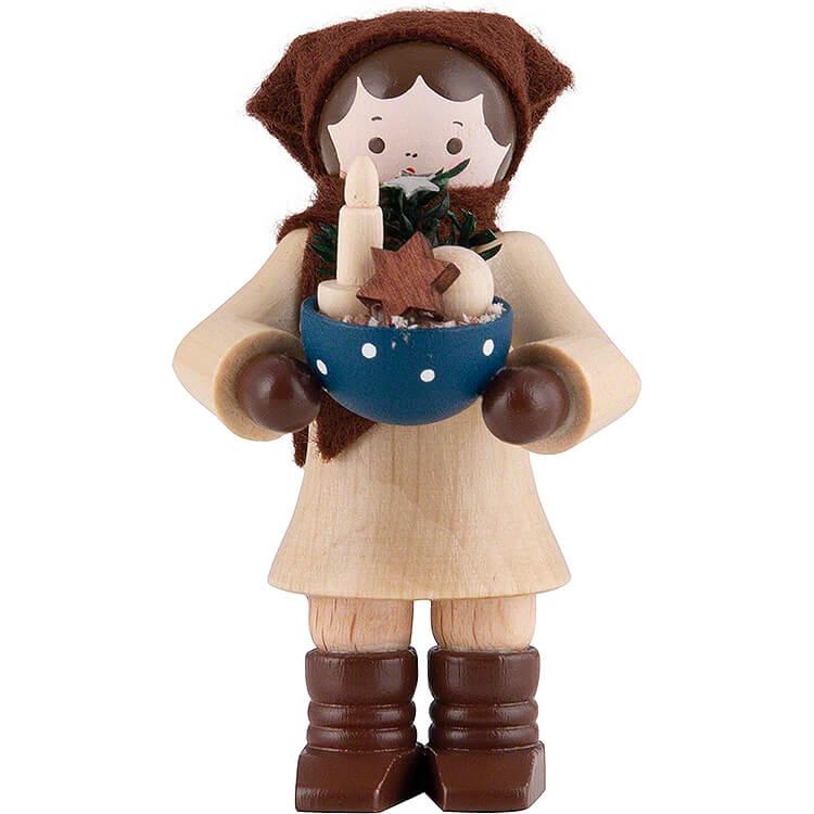 Thiel - Figur Frau mit Schüssel  -  6cm
