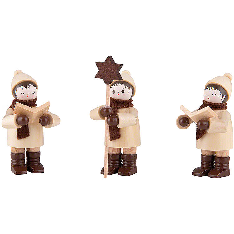 Thiel Figurine  -  Carolers  -  natural  -  Set of Three  -  7,5cm / 3 inch