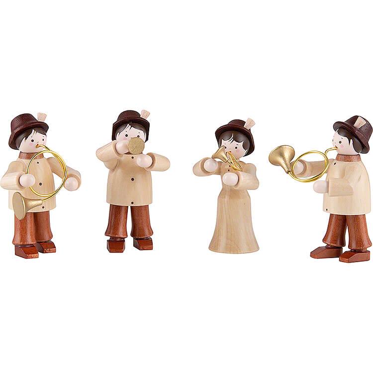 Thiel Figurines  -  Hunters' Quartet  -  4 pieces  -  natural  -  6cm / 2.4 inch