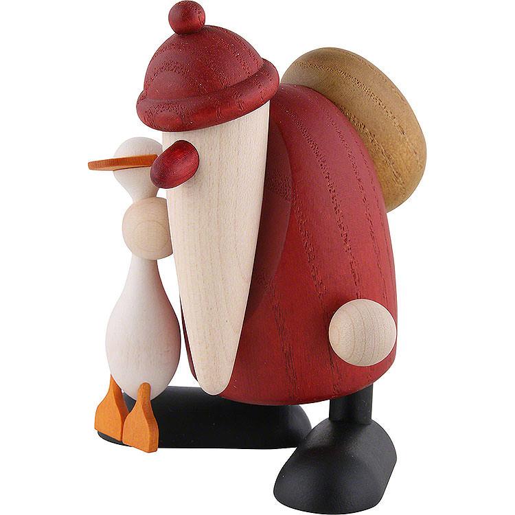Weihnachtsmann mit Gans Auguste  -  9cm