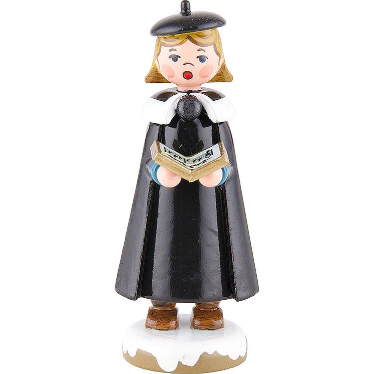 Winterkinder Kurrendemädchen mit Buch  -  8cm