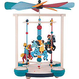 1 - Tier Carousel Pyramid with Little Rider  -  30cm / 11.8 inch