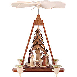 1 - Tier Christmas Pyramid  -  Nativity Scene  -  29cm / 11 inch