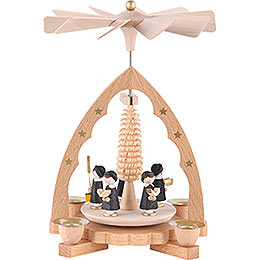 1 - Tier Pyramid  -  Carolers  -  19cm / 7 inch