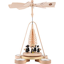 1 - Tier Pyramid  -  Carolers  -  28cm / 11 inch