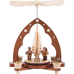 1 - Tier Pyramid  -  Forest People  -  28cm / 11 inch