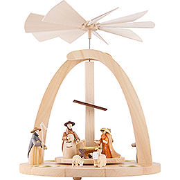 1 - Tier Pyramid  -  Nativity Figurines Colored  -  33cm / 13 inch
