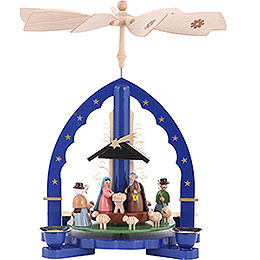 1 - Tier Pyramid  -  Nativity Scene  -  27cm / 11 inch