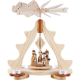1 - Tier Pyramid  -  Nativity Scene  -  36cm / 14 inch