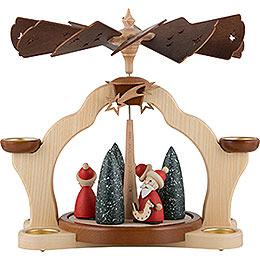 1 - Tier Pyramid  -  Santas  -  31cm / 12 inch