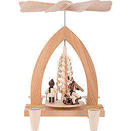 1 - Tier Pyramid  -  Winter Children  -  Natural  -  26cm / 10.2 inch
