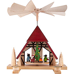 1 - stöckige Pyramide Kinderweihnacht   -  29cm
