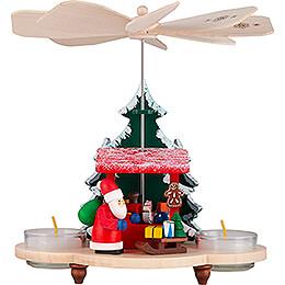 1 - stöckige Pyramide Weihnachtsmann auf Striezelmarkt  -  19,5cm