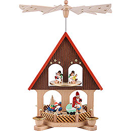 2 - Tier Pyramid  -  House Giving Scene  -  36cm / 14.2 inch