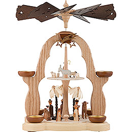 2 - Tier Pyramid  -  Nativity  -  40cm / 16 inch