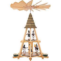 2 - Tier Whim Pyramid with Miners  -  52cm / 20.5 inch